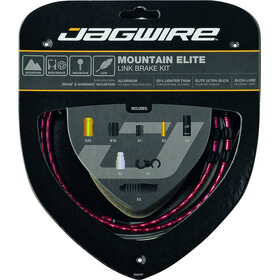 Jagwire Mountain Elite Link Kit de câbles de frein, red